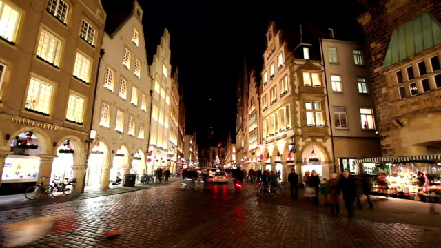 Prinzipalmarkt in Münster, Germany - Time lapse video
