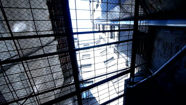 HD - Prison. View through the security bars video
