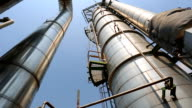 Process area of petrochemical plant video