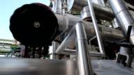 Process area of  \tRefinery plant video