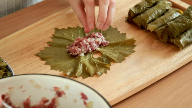 process cooking of dolma video
