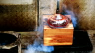 Process of Blow glass video