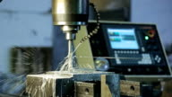 Process of drilling on CNC machines and system supply, cutting fluid video