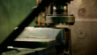 Process of machining metal parts on a vertical milling machine video
