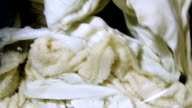 Process of washing bed linens video