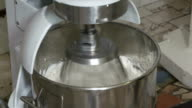 Process of whipping marshmallow mixture in planetary mixer video