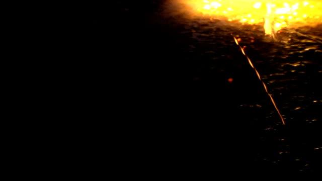 Processing of granite slabs fire video
