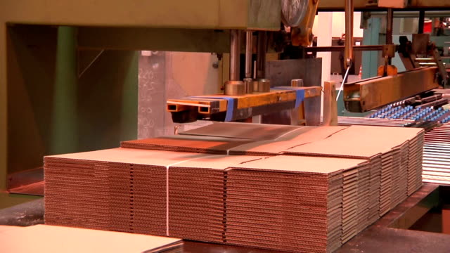 production of cardboard packaging video