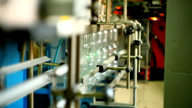 production of plastic bottles for mineral water video
