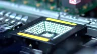 Production of printed Circut Board. Manufacture of electronic chips video