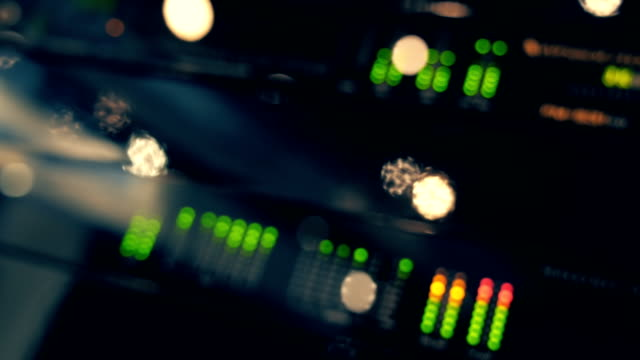 Professional audio-video equipment works, and illuminated a lots of lights video