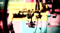 HD - Professional Bicyclist on Bicycle Trainer, Abstract video