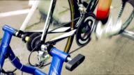 HD - Professional  Bicyclist on Bicycle Trainer video
