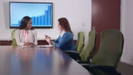 Professional Businesswomen Meet in Large Conference Room video
