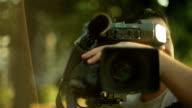 Professional camera,close up video