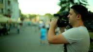 Professional cameraman video