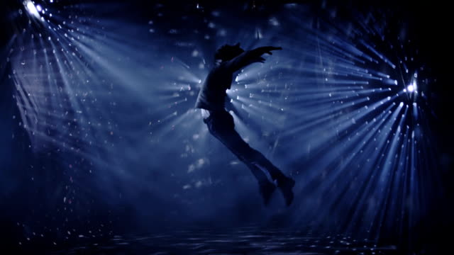 Professional dancer dancing and jumping on beautiful real background. Slow Motion. Shot on RED EPIC Cinema Camera. video