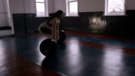 Professional Female Powerlifter Deadlifting Heavy Weight video