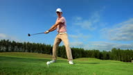 HD SLOW MOTION: Professional Golfer Teeing Off video