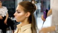Professional Hair Dresser Used Hair Straight Iron Straightener Hair video