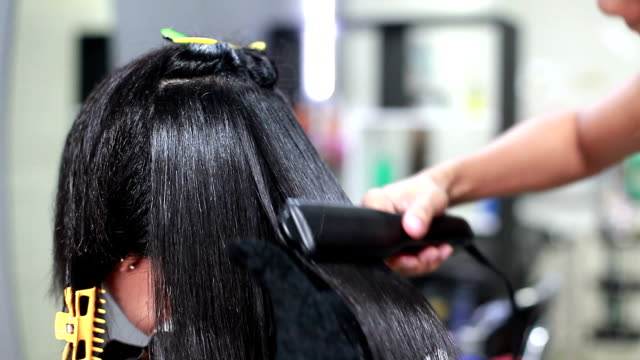 Professional Hairdresser Straight Hair video