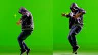 FEW SHOTS! Professional Hip Hop break dance. Dancing on Green screen. Slow motion. video