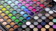 Professional makeup eyeshadows palette video