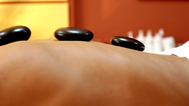 Professional Massage With hot Stones video