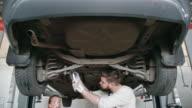 Professional Mechanics Working in Team video