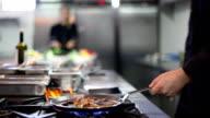 professional restaurant or hotel kitchen video