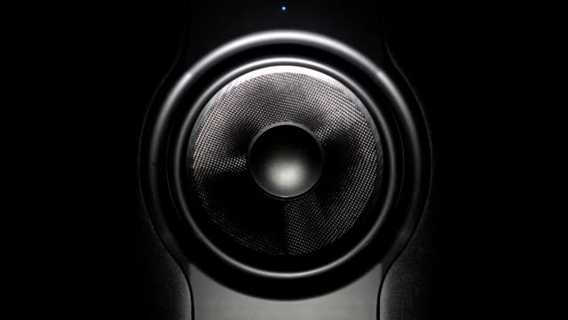 professional studio subwoofer speaker isolated video