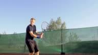 Professional Tennis Player Expressing Achievement video