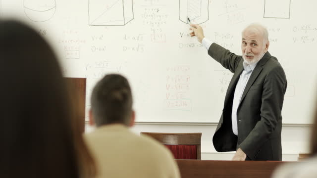 Professor and students in the classroom video