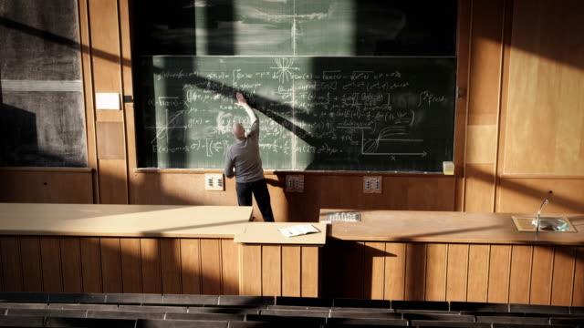 Professor in auditorium video