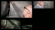 Professor with students (Splitscreen) video