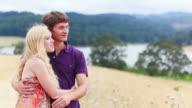 Profile of happy couple video