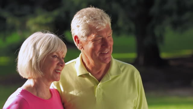 Profile of senior couple video