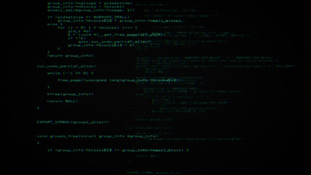 program code screen video