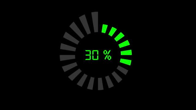 progress bar - digital style, radial design video