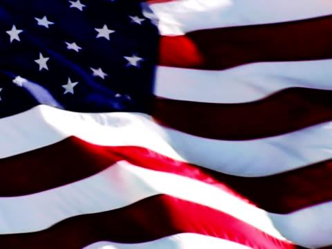 NTSC: US FLAG LOOP. SD Progressive Frames video
