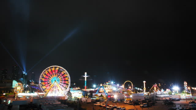HD progressive - Midway at Night (Time Lapse) video