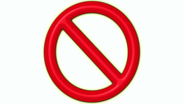 Prohibited Sign Loop video