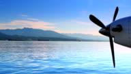 Propeller Air Plane Engine, Sea Plane, North Vancouver British Columbia video