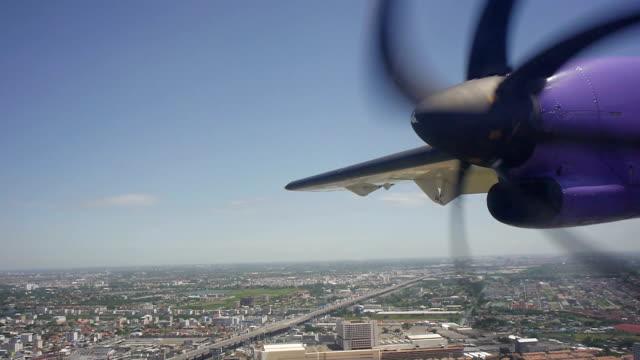 Propeller Plane Flying Over Land video