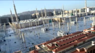 Prophet's Mosque in Medina from afternoon to twilight time lapse video