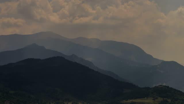 Provence hilltops Gorges du Verdon sunbeams video