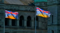 Provincial Flags of British Columbia in Front of Legislature Buildings video