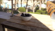 Prunes on the wood table video