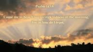 Psalm 143:8 -FULL HD video