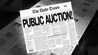 Public Auction! - Newspaper Headline (Intro + Loops) video